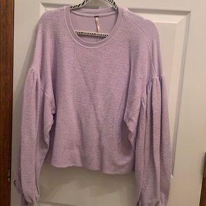Free people oversized inside out sweatshirt